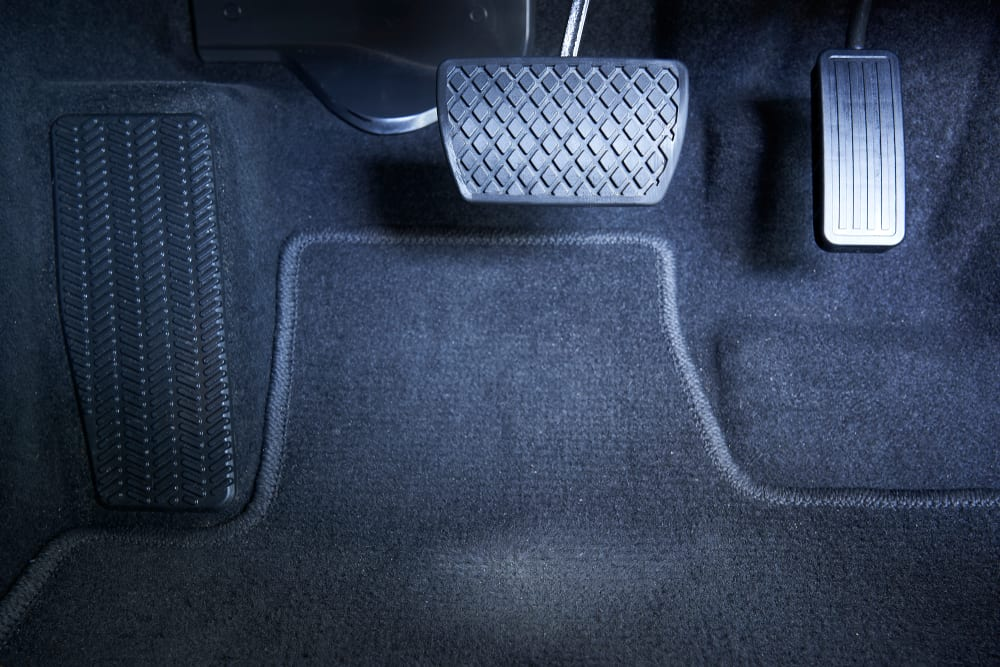 brake and accelerator pedals