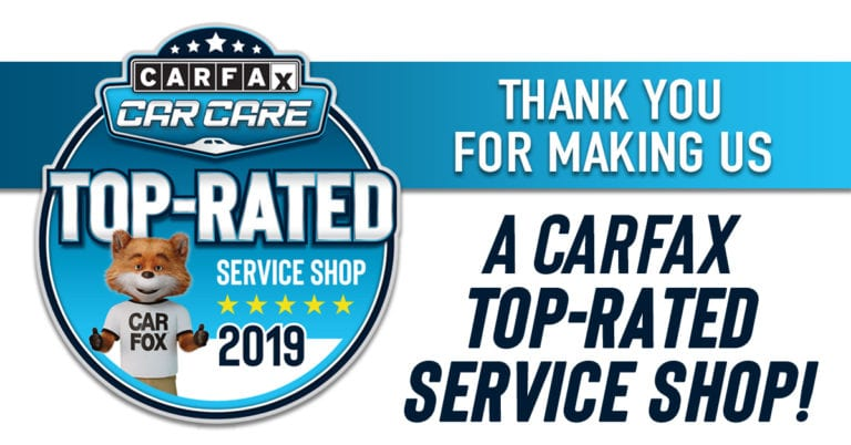 CARFAX Top Rated Shop 2019 Sugar Land and Stafford